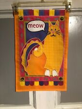 Mini Garden Yard Flag New Yellow Meow Free Fast Shipping