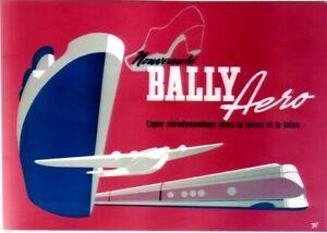 Original vintage poster BALLY AERO STREAMLINE SHOES c.1945