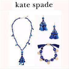 Kate Spade NY Pretty Poms Tassel Pendant Blue Necklace Retail