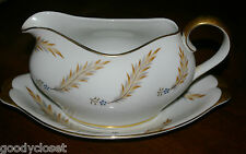 MEITO NORLEANS COURTLEY FINE CHINA GRAVY BOWL AND UNDERPLATE LINER UNUSED COND