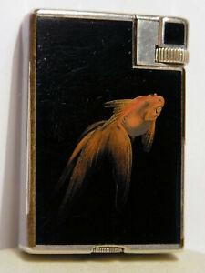 BRIQUET DUNHILL NAMIKI GOLD FISH 1930 & Etui Dunhill Contenant 2 Pierres
