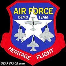 AIR FORCE HERITAGE FLIGHT PROGRAM- FIGHTER DEMO TEAM - ORIGINAL USAF PVC PATCH