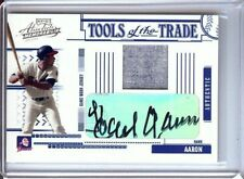 Hank Aaron 2009 Playoff Absolute Tools Jersey Auto Braves #TT-122 29/50