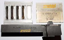 Wendeplatten-Drehmeißel Wendeplattenhalter Zettl 15.3241 +4 Wendeplatten 31.3529