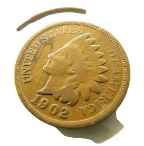 1902 Indian Head Penny Cent Coin + FREE SHIPPING