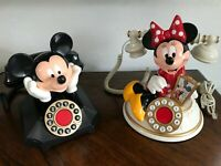 Mickey & Minnie Mouse Disney Push Button Telephone ~ Tested Working