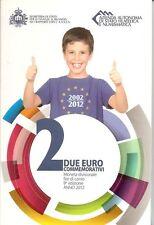 """2 Euro Gedenkmünze 2012, San Marino, """"10 Jahre Eurobargeld"""", im Original-Folder"""