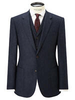 JOHN LEWIS & Co. Bennett Donegal Wool Tailored Suit Jacket, Blue- 42S