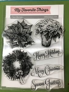 My Favorite Things HOLIDAY BOTANICALS Stamps Christmas Flowers Wreath Poinsietta