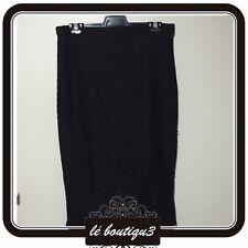 BARDOT Grid Lace Midi Skirt Black RRP $99.95 Size 12 (B 2)