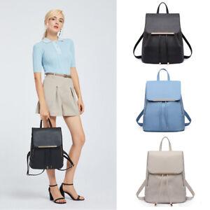 Ladies Girls Backpack School Bag Travel Rucksack Laptop PU Leather Bag