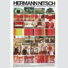 Hermann Nitsch: Strukturen des Orgien Mysterien Theaters. Signiert