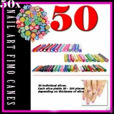 50 Pcs/Set Nail Art Nail Art 3D Manicure Design Smiling Face Fimo Canes