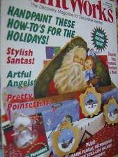Paint Works Magazine February 1995-Santas/Lenski Angel/Poinsettias/Snowmen/Victo