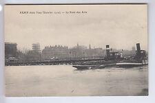 CPA  PARIS 75 - CRUE INNONDATION LE PONT DES ARTS BATEAU BOAT 1910 ~A50
