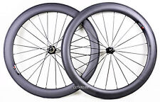 60mm Clincher Wheel Set 700C Road Bicycle Rimset 25mm Wide 3K Matt Basalt Brake