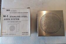 MG electronics M-1 Stainless Steel Siren System 30 Watt 120DB 6-12 VDC