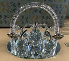 Grand Romany Silver écrasé cristal Rempli Thé Café et Sucre Bidon pots UK
