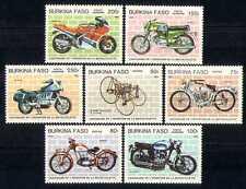 Burkina Faso 1985 Motorbikes/Transport 7v set (n27847)