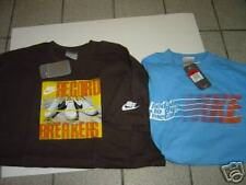 2 NEW MENS NIKE BROWN & LT BLUE S/S TSHIRTS SIZE L