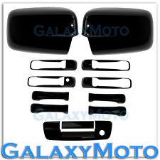 09-15 Dodge Ram Black Mirror no Light+4 Door Handle+Tailgate w. KH no CM Cover