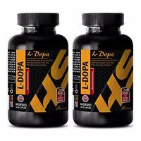 Dopamine serotonin acetylcholine - L-DOPA 99% EXTRACT 350mg - l-Dopamine - 2 Bot