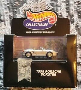 Hot Wheels 2000 Cool Collectibles '98 Porsche Boxster Silver, Black Box 100%, RR