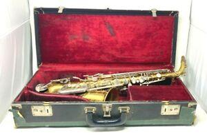 Vintage BUNDY SPECIAL H&A Selmer Inc Alto Saxophone w RARE Red Gems On Key Guard