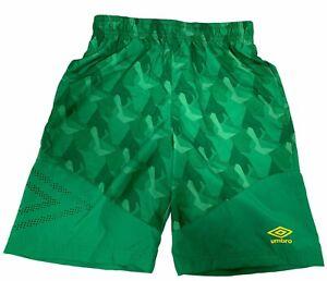 Umbro Boys Soccer Athletic Shorts Pockets Drawstring Green NWT SZ L 12/14