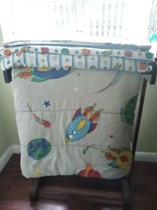 Twin Comforter And Sheets Set Space Rocket Ship