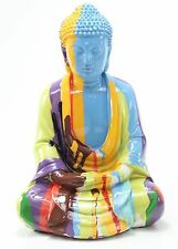 "Feng Shui 10"" Colorful Rainbow Meditating Buddha Figurine Statues Home Decor"