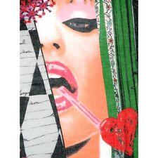 DESIGUAL Foulard donna Cuadros Pashmina Scarf rosso/verde Edizione limitata  €59