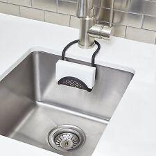 Umbra Hang Over Kitchen Sling Flexible Sink Caddy Dish Sponge Wash Brush  Holder