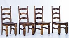 4er Set Stühle Mexico für Esstisch Pinie massiv Eiche antik Esszimmer Stuhl