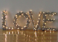 LARGE UNIQUE LIGHT UP TWIG MARQUEE LETTERS L.O.V.E. HOME DECOR VALENTINE WEDDING