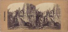 Suisse Allemagne Stéréo Photo Vintage albumine ca 1860