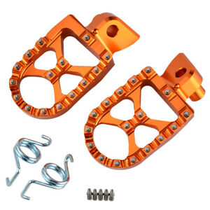57mm Billet Wide Foot Peg Footrest For KTM SX SXF XC XCF XCW EXC EXC-F 1998-2018