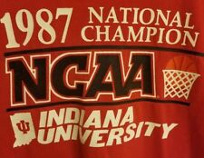 Vtg 1987 INDIANA UNIVERSITY IU HOOSIERS CHAMPION NCAA Shirt Mens Size Large L