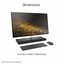 "HP Envy Touch 27-b120qd All in One 27"" WQHD i5-7400t Quad 8GB 256GB SSD NVMe 1TB"