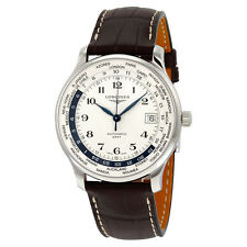 Longines Master Collection World Time Automatic GMT Steel Mens Watch