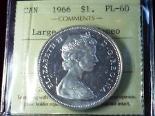 1966 CANADA SILVER DOLLAR -  ICCS GRADED -CAMEO