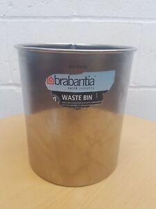 Brabantia Waste Paper Bin 7L Litre Matt Steel Office Room Bin