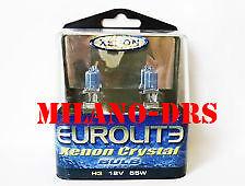 Lampade alogene EUROLITE SUPER WHITE H1 55W LUCE BIANCA