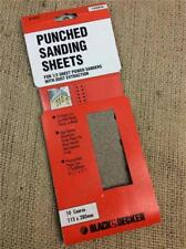 CLEARANCE LOT371 BLACK & DECKER PUNCHED SANDING SHEETS COARSE 1/2 SHEET 115X28mm