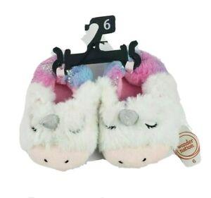 Wonder Nation Infant/Toddler /Baby Unicorn Slippers Size 6