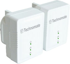Set of 2 Technomate 600Mbps Powerline Ethernet Adapter Homeplug Twin Pack
