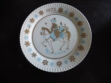 Vintage Spode Christmas Carol Collector Plate Bone Chinois avec trois rois 1973