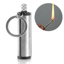 Waterproof Emergency Fire Starter Flint Match Lighter Keychain Outdoor Survival