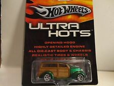 Hot Wheels Ultra Hots Green '37 Ford Woody w/Real Riders