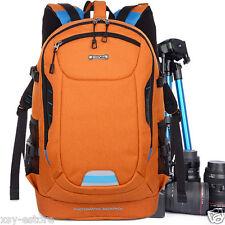 DSLR SLR Digital Camera Backpacks Unisex Orange Photography Bags for Women & Men